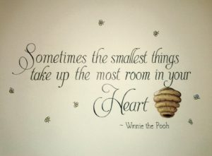 quote mural--baby nursery