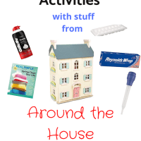 Fun Toddler Activities with Stuff from Around the House
