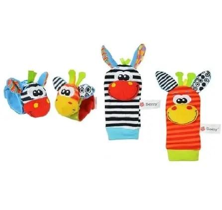 Rattle Socks Zebra & Giraffe