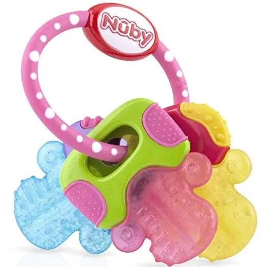 Nuby Ice Gel Teether Keys, Pink
