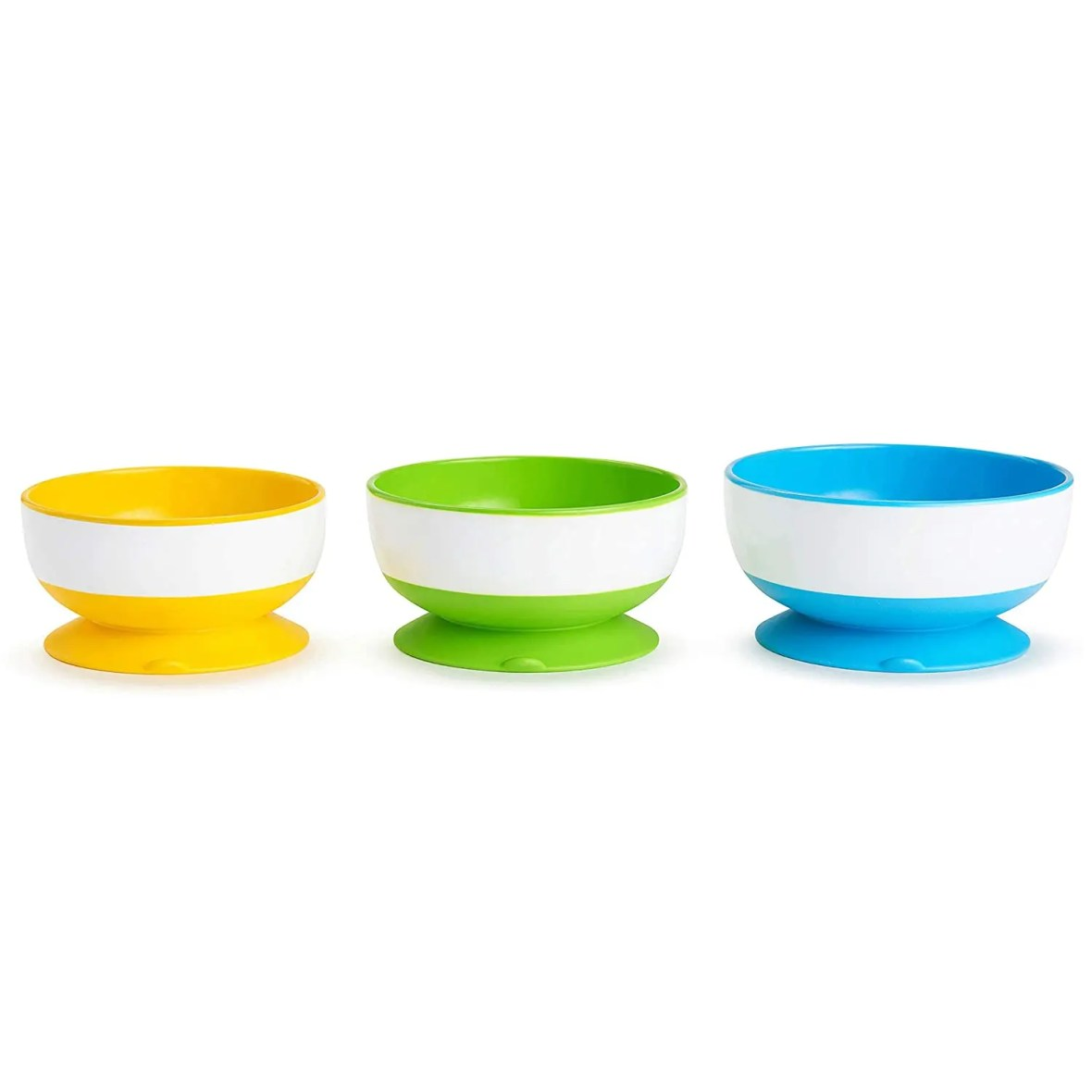 Munchkin Stay Put Suction Bowl, 3 Pack YGB