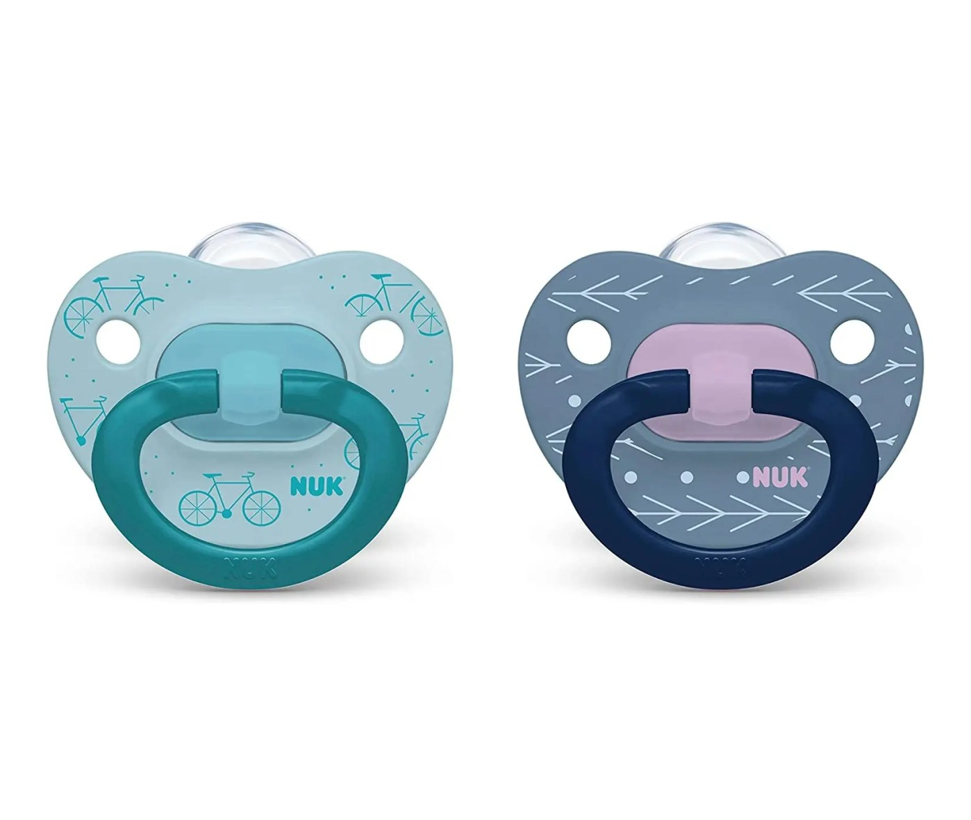 NUK Orthodontic Pacifier Value Pack, Blue&DBlue, 18-36 Months, 2-Pack