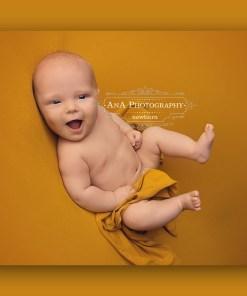 Ochre Yellow Newborn Fabric Backdrop