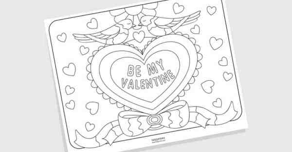 coloring pages for valentines day printable # 47