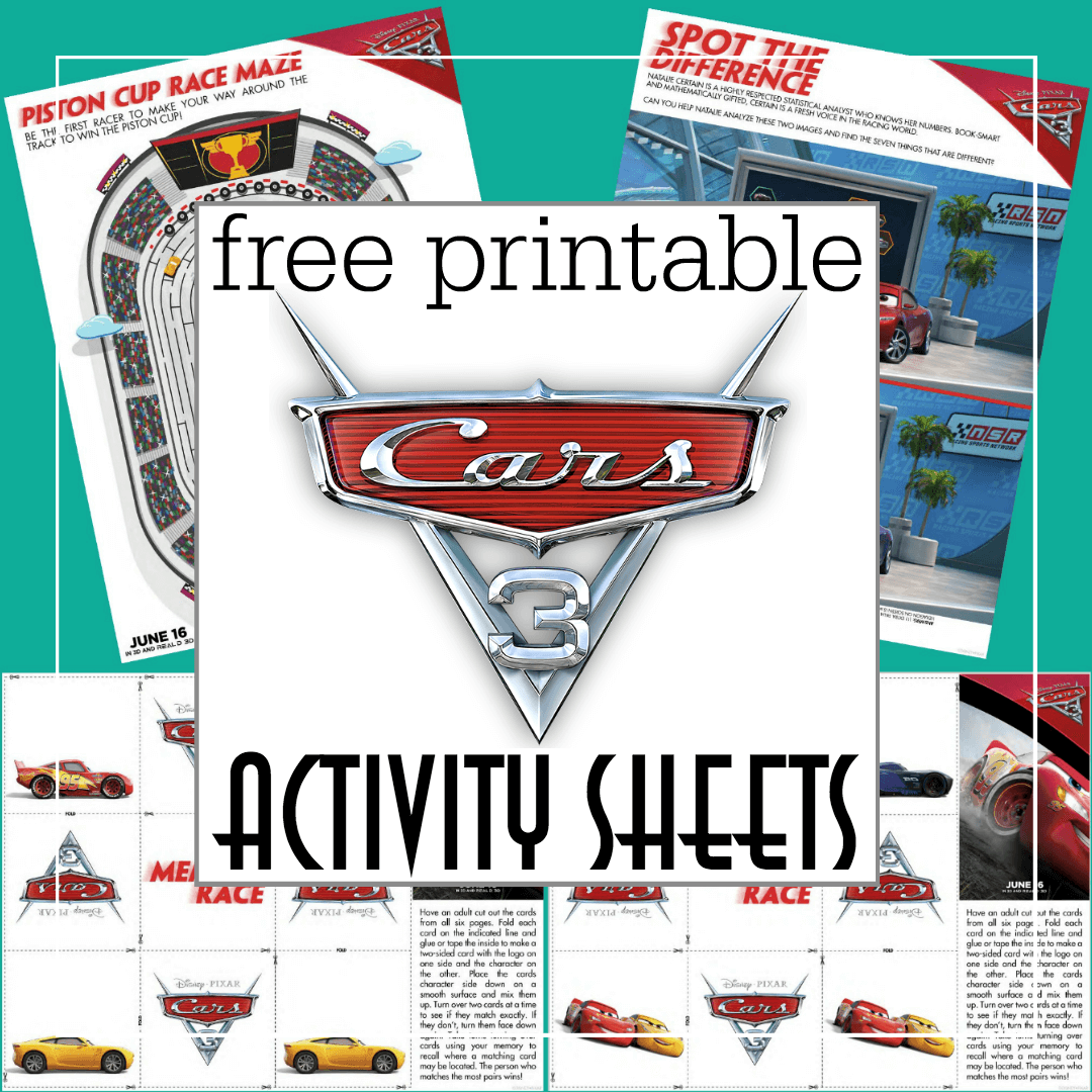 Free Printable Cars 3 Activity Sheets And A New Cars 3
