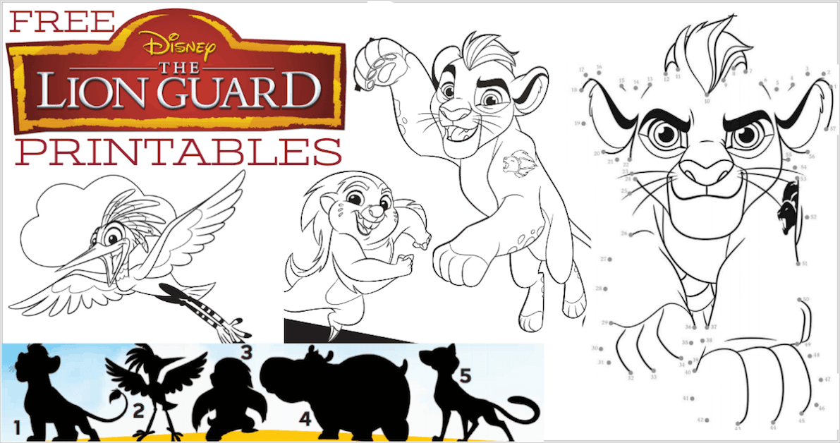 The Lion Guard Printables With Beshte Kion And Other Characters