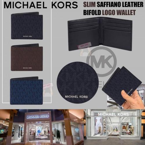 7中: Michael Kors Slim Saffiano 真皮印花銀包