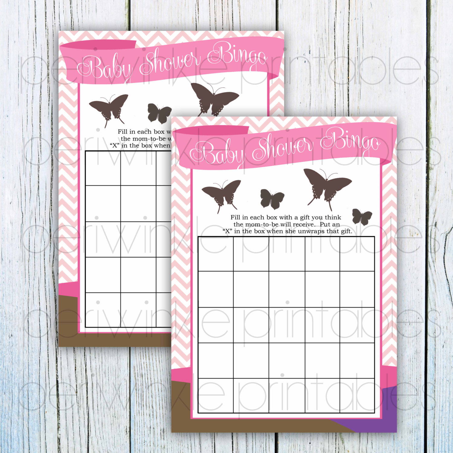 Butterfly Baby Shower Printable Baby Shower Bingo