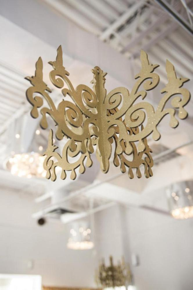 Royal Pink And Gold Baby Shower Chandelier Decor