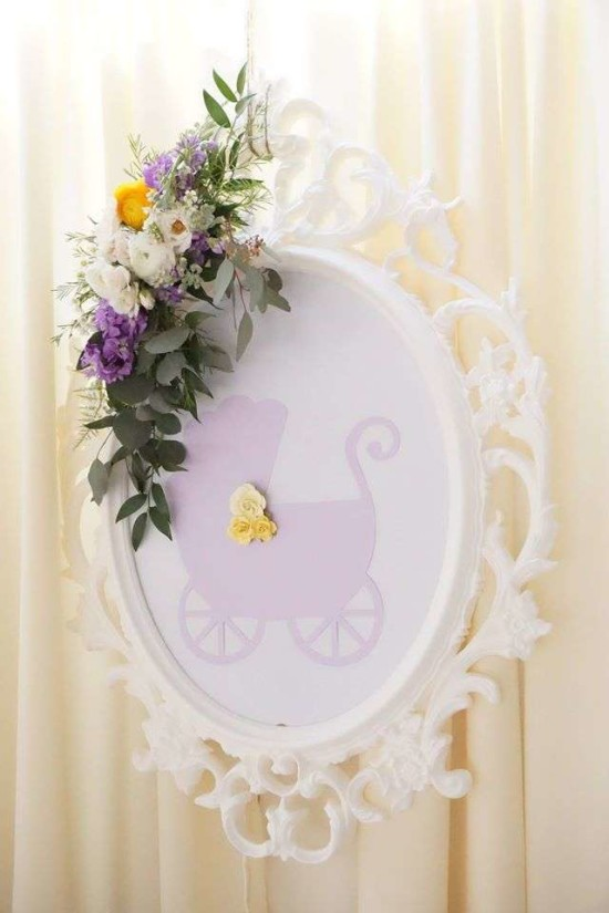 Elegant Yellow And Purple Baby Shower Baby Shower Ideas