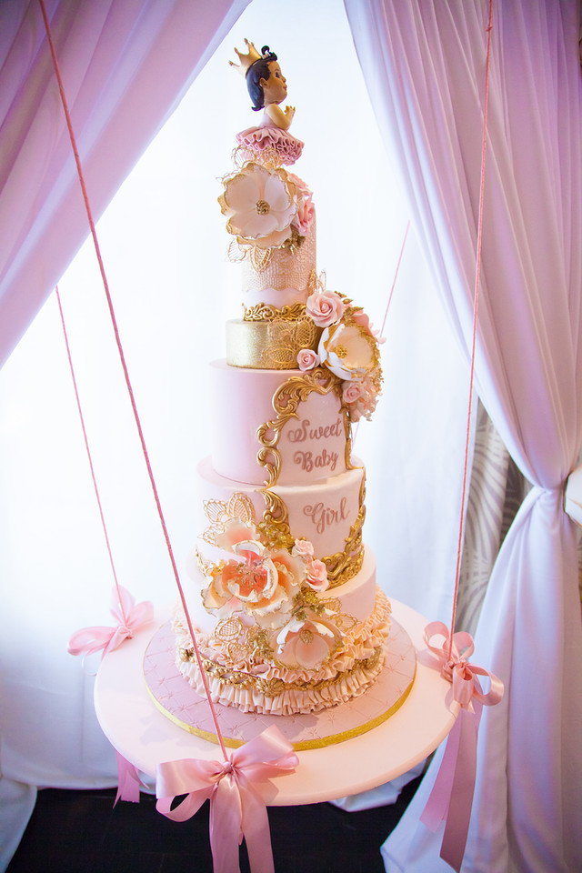 Pops Pink And Gold Cake