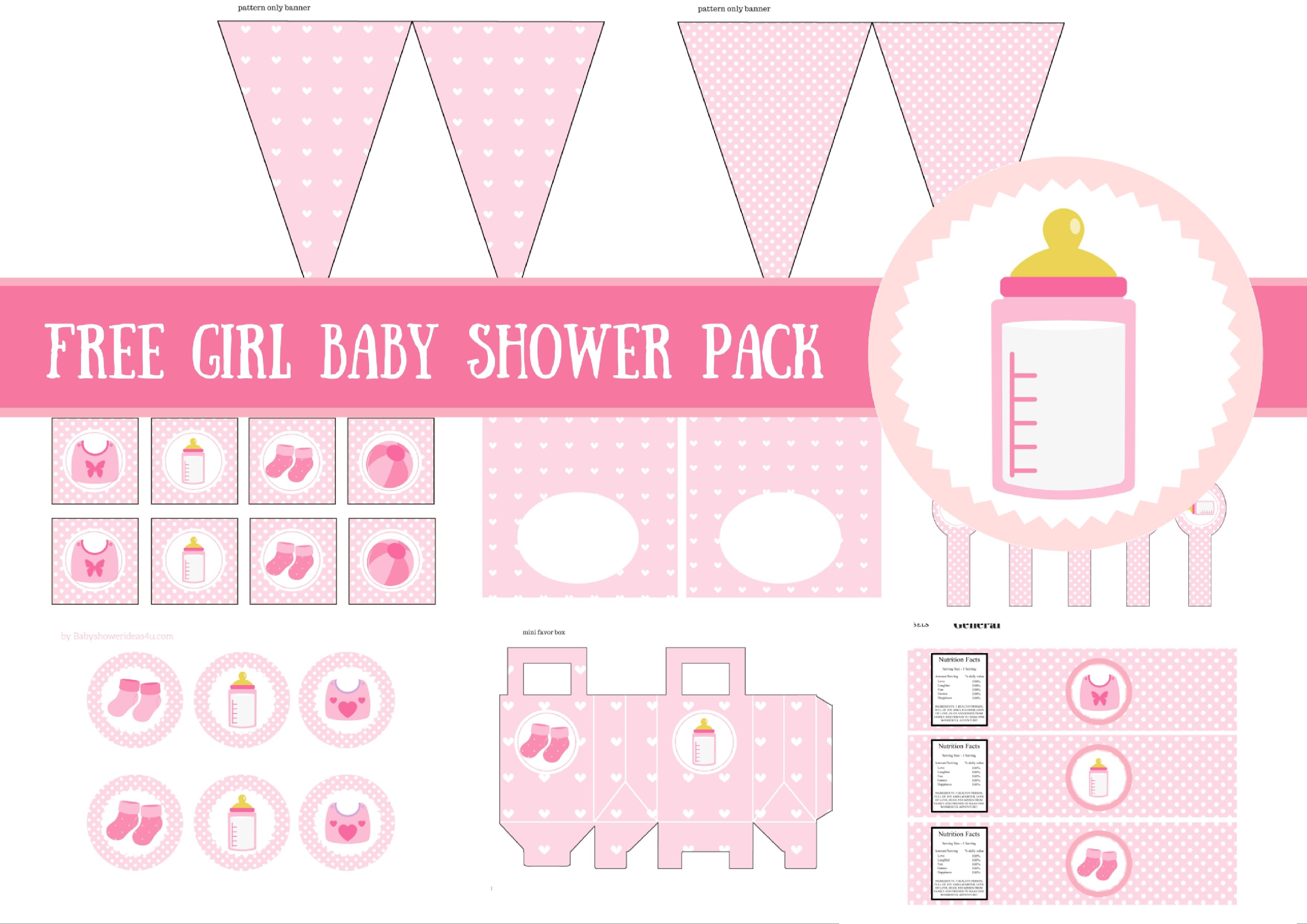 Free Girl Baby Shower Printable Template
