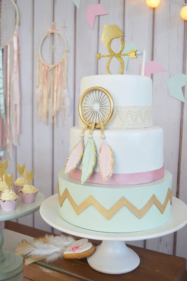 Pastel Boho Chic Party Baby Shower Ideas Themes Games