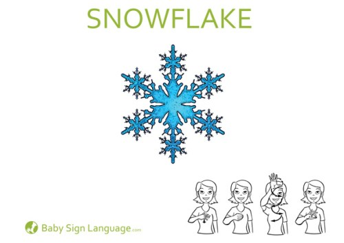 snowflake Christmas Baby Sign Language