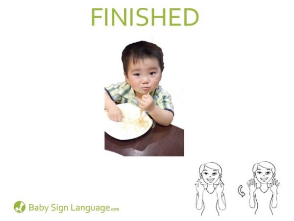 Finished Baby Sign Language Flash card