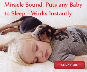 Baby Sleeping with pet dog with help from Miracle Sound
