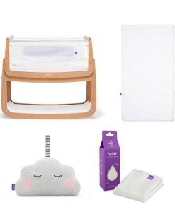 SnuzPod4 Bedside Crib Starter Bundle Natural