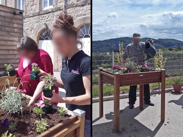 Activité jardinage Ehpad repiquage et arrosage