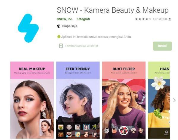 Aplikasi Selfie SNOW