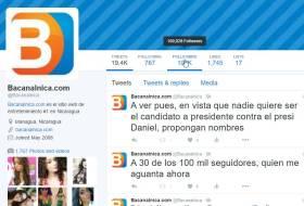 Bacanalnica tiene 100 mil seguidores en Twitter, ahora quien nos aguanta