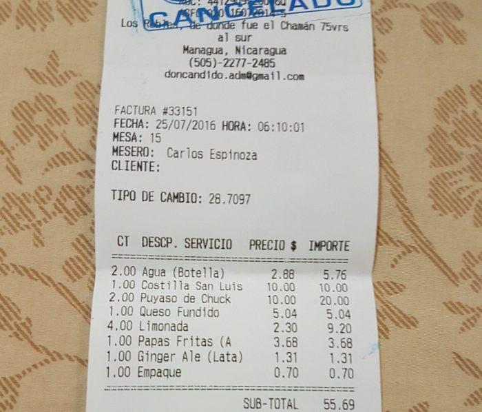 factura don candido