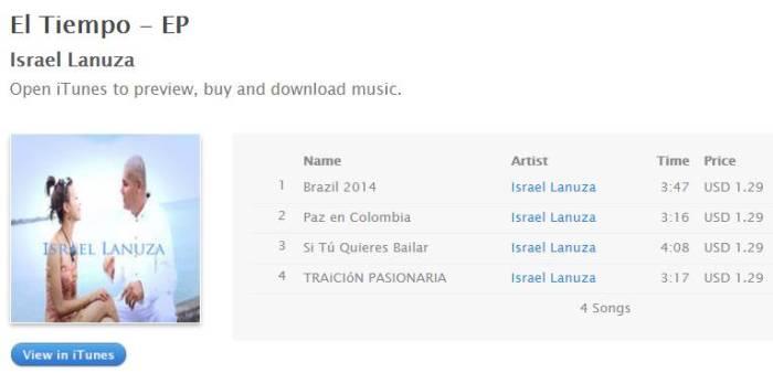 El Tiempo - EP by Israel Lanuza on Apple Music - Google Chrome-r7ibw