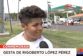 Los estudiantes del Rigoberto no saben qué hizo el tal Rigoberto López Pérez
