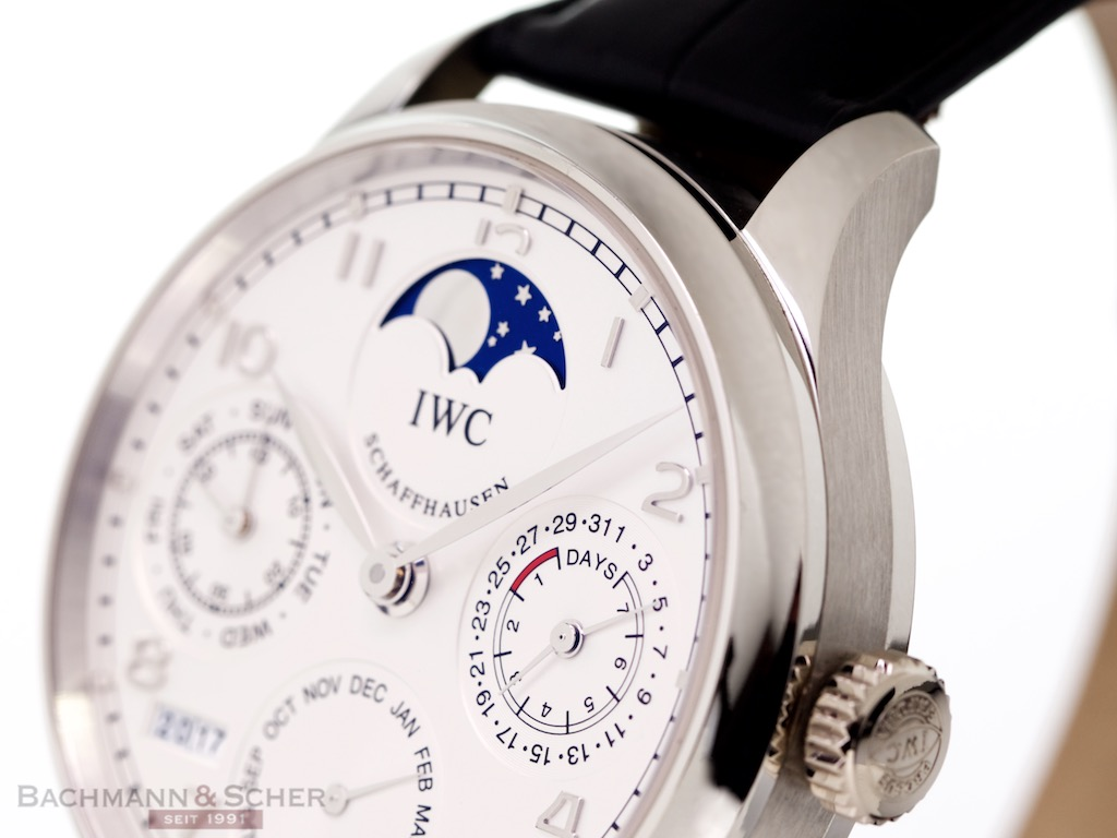 Iwc Portugieser Perpetual Calendar Moon Phase Ref Iw 950 Platinum Limited Box Papers Bj