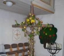 Osterkreuz Kirche Fraureuth