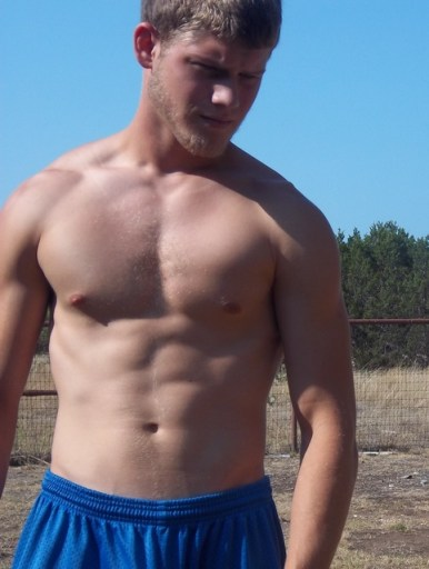 WOOF! - Hot Man of the Day: Blonde Hair, Tan Skin in Blue