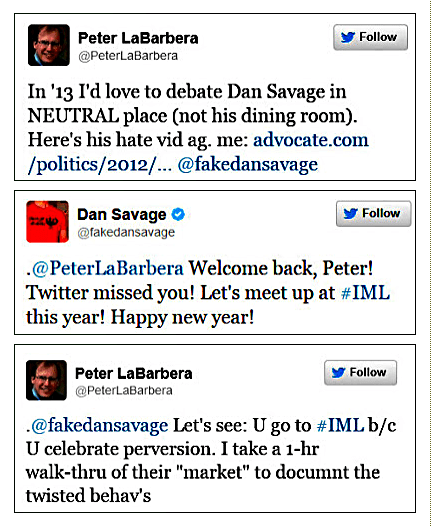 Pete Labarbera  vs Dan Savage