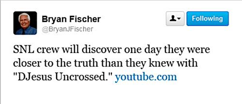 Bryan Fischer DJesus Uncrossed