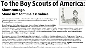 Hate Group Letter to the Boy Scouts
