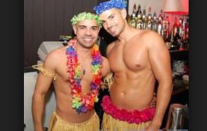 Gay Men grass skirts