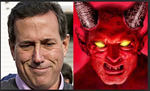 Rick Santorum Devil