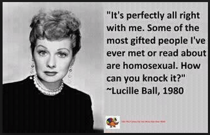 Gay/LGBT History Month - October 15th: Virgil, Foucault, Cole Porter, and Lucille Ball - Lucy, Honey I'm HOMO!