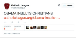 Obama insults Christians