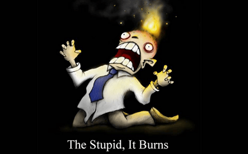 The stupid burns