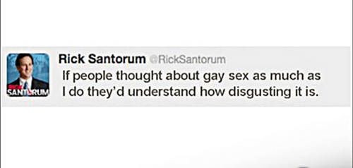 Rick Santorum Tweet