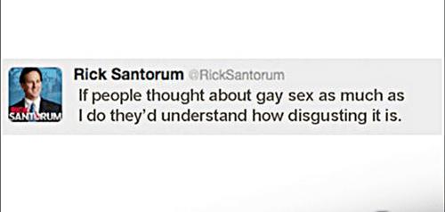 Rick Santorum Tweet