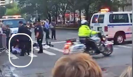 NYC Gay Cyclist Tackled at Obama's Motorcade