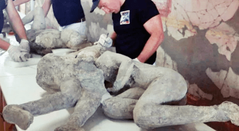Scientist Reveal Embracing Figures At Pompeii 'Could have been gay lovers'
