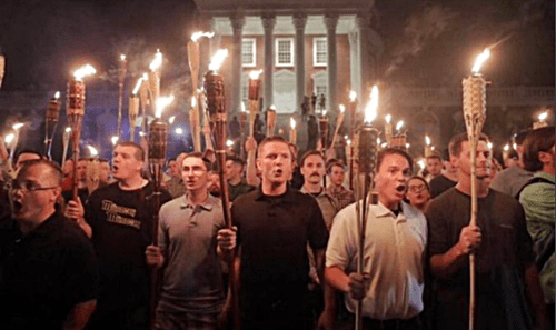 Violence Erupts As Torch-Wielding White Nationalists ( Supremacist ) March on University of Virginia - Video