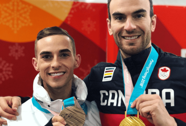 Gay Canadian Figure Skater Eric Radford Takes The Gold, Rippon and USA Figure Skating Team Take Bronze - VIDEOS