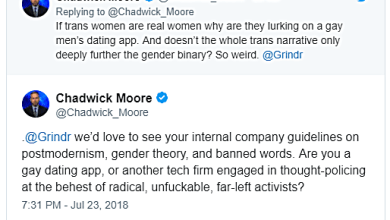 Alt-Right Quisling Jorno Chadwick Moore Calls FBI on GRINDR Because He Can't Get Laid