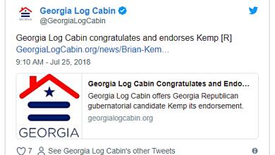 Gay Log Cabin Republican Traitors Endorse Anti-LGBT Georgia GOP Governor Nominee