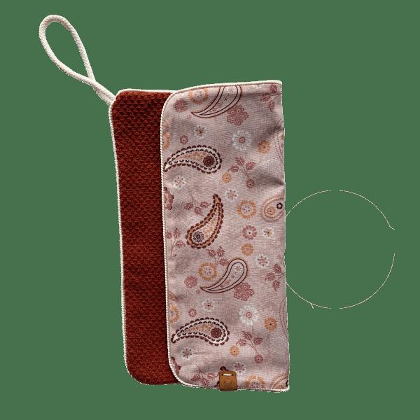 Speendoekje Paisley roze / roest