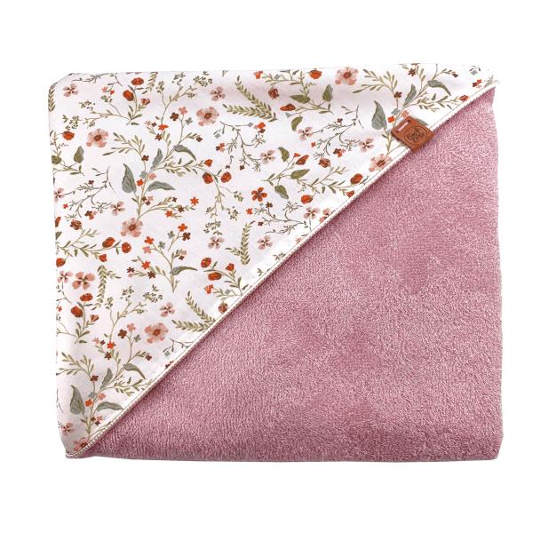 Fleur Wikkeldoek – Bamboe Roze