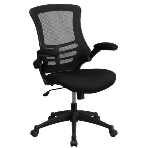 Mid-Back_Black_Mesh_Swivel_Task_Chair_with_Mesh_Padded_Seat_and_Flip-Up_Arms