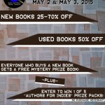Authors for Indies & book sale this weekend!